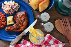 Barbecue Chicken Meal Stock Images