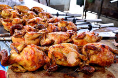 Barbecue chicken on open grill Stock Photography