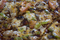 Barbecue Chicken Pizza Royalty Free Stock Photography