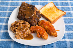 Barbecue Chicken Port and Ribs Royalty Free Stock Image