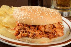 Barbecue chicken sandwich Stock Photography