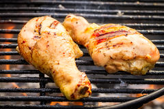 Barbecue Chicken at summer on grill Royalty Free Stock Photography