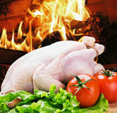 Barbecue chicken with vegetables Royalty Free Stock Photography