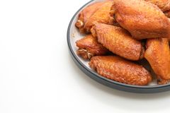 Barbecue chicken wings. Isolated on white background stock photography