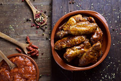 Barbecue chicken wings Stock Images