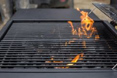 Barbecue clean grate, empty. BBQ royalty free stock photo