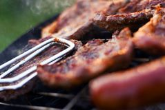 Barbecue closeup Royalty Free Stock Images