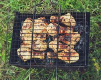 Barbecue. Closeup of barbecue Royalty Free Stock Images