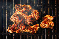 Barbecue with coal and meat Stock Image