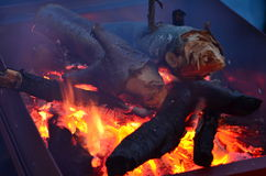 Barbecue coal Stock Photo