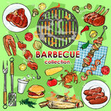 Barbecue collection Stock Photography