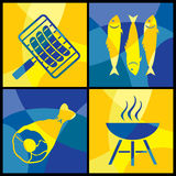 Barbecue color cross Stock Images