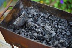 Barbecue con carbone fotografia stock libera da diritti