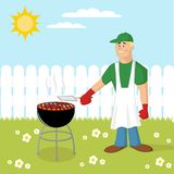 Barbecue cooking Stock Photos