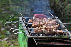 Barbecue cooking on the grill Stock Image