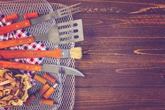 Barbecue Cooking Set Stock Photography