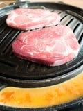 Barbecue coréen de style images stock