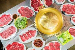 Barbecue coréen ou Yakiniku dans le style japonais images stock