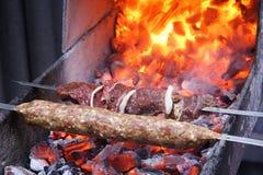 Barbecue cru Images libres de droits
