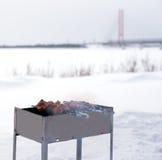 Barbecue cuit pour faire cuire sur le gril Images libres de droits