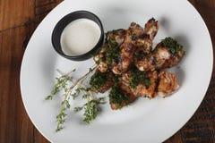 Barbecue d'ailes de poulet Photo libre de droits