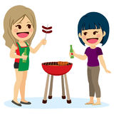Barbecue d'amie illustration stock