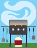Barbecue d'arrière-cour illustration libre de droits