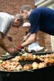 Barbecue dans le jardin Photo libre de droits