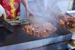 Barbecue de calmar Photographie stock