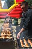 Barbecue de chef principal Photo libre de droits