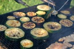 Barbecue de courgette et d'aubergine Images libres de droits