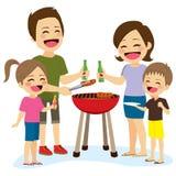 Barbecue de famille illustration de vecteur