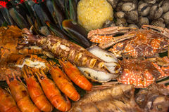 Barbecue de fruits de mer Photographie stock