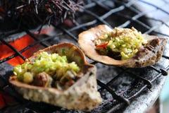 Barbecue de fruits de mer Photo libre de droits