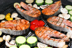 Barbecue de poissons Photo stock