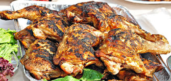 Barbecue de poulet Photo stock