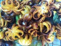 Barbecue dei frutti di mare sulla spiaggia Fotografie Stock