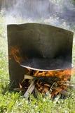 Barbecue del disco Fotografie Stock
