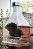 Barbecue del giardino del mattone Fotografia Stock