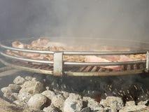 Barbecue del pollo Fotografia Stock Libera da Diritti