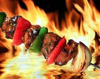Barbecue del porco immagine stock