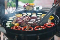 Barbecue della carne Fotografia Stock