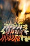Barbecue della carne della griglia Fotografie Stock Libere da Diritti