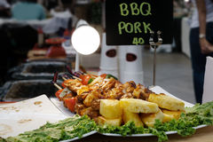 Barbecue della carne di maiale Fotografia Stock