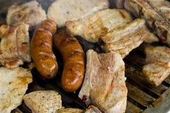 Barbecue della carne, DOF poco profondo Immagine Stock
