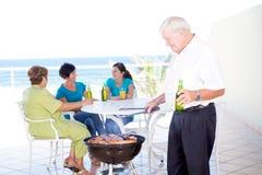 Barbecue della famiglia Fotografia Stock Libera da Diritti