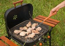 Barbecue della griglia Fotografia Stock