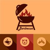 Barbecue design elements Royalty Free Stock Image