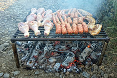 Barbecue details Royalty Free Stock Photo