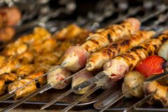 Barbecue di appetito della carne fotografie stock